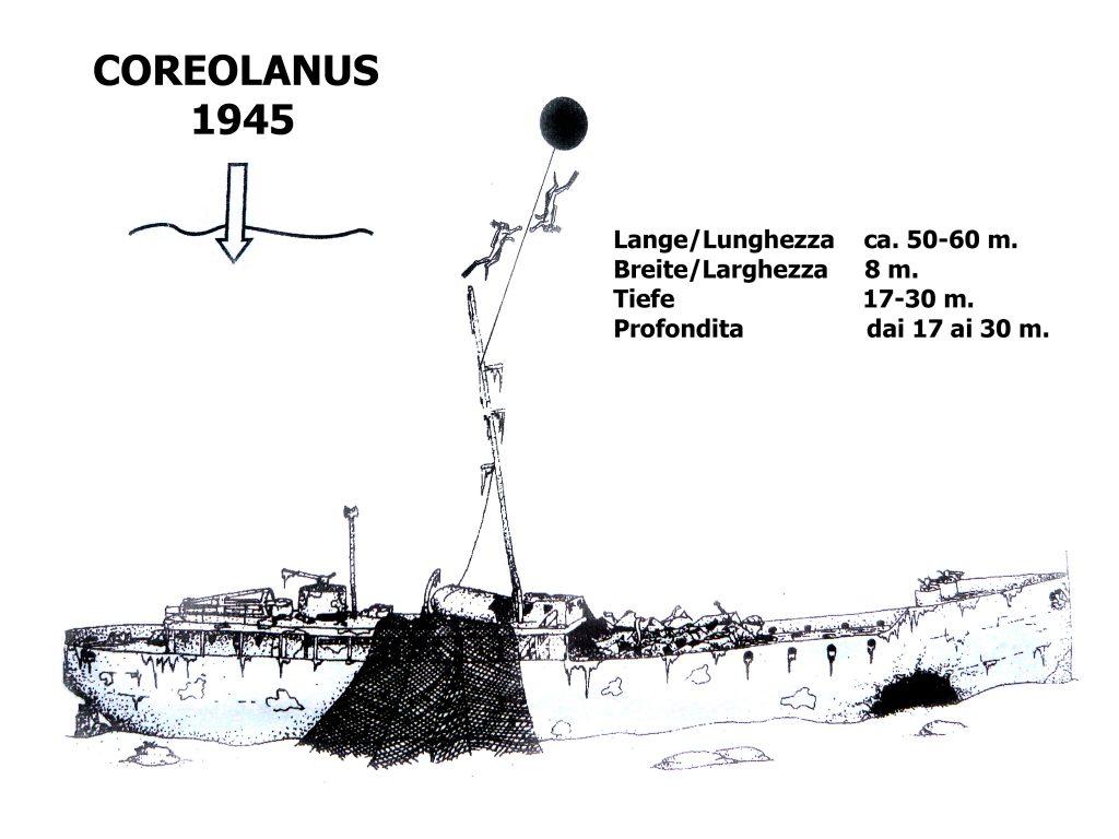 nurkowanie na wrakach, Coriolanus wrak Chorwacja, nurkowanie w Chorwacji