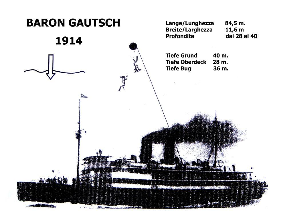 nurkowanie na wrakach w Chorwacji, wrak Baron Gautsch, wraki Adriatyku