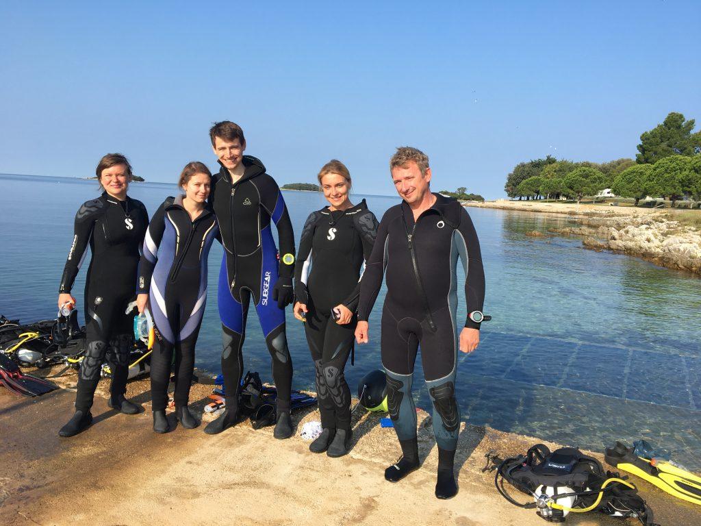 la scuola sub croazia, immersioni orsera, diving school vrsar